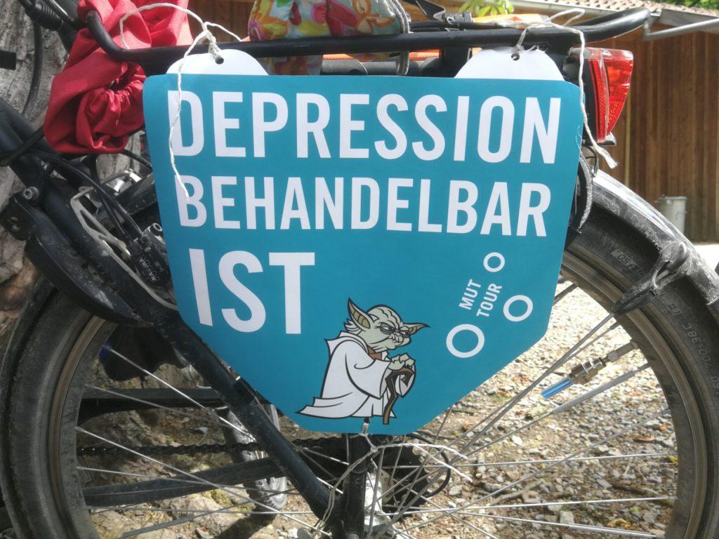 """Spruchplakat """"Depression ist behandelbar"""""""